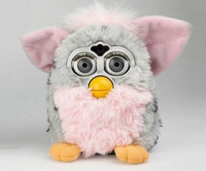 white-furby-doll